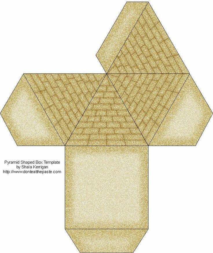 Plantilla para construir una pirámide egipcia | learn&teach ...