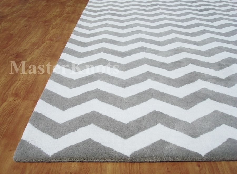 Details About Brand New Modern Chevron Zig Zag Gray White