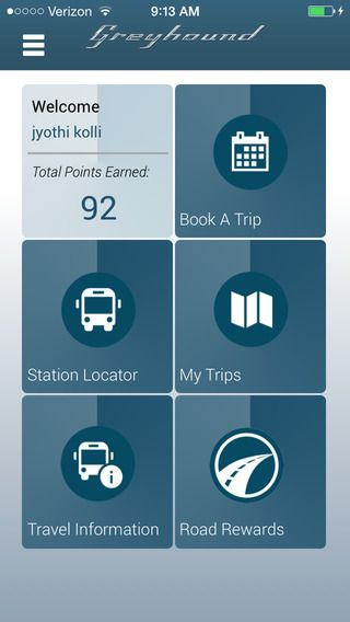 The Greyhound mobile app is a must for all road travelers