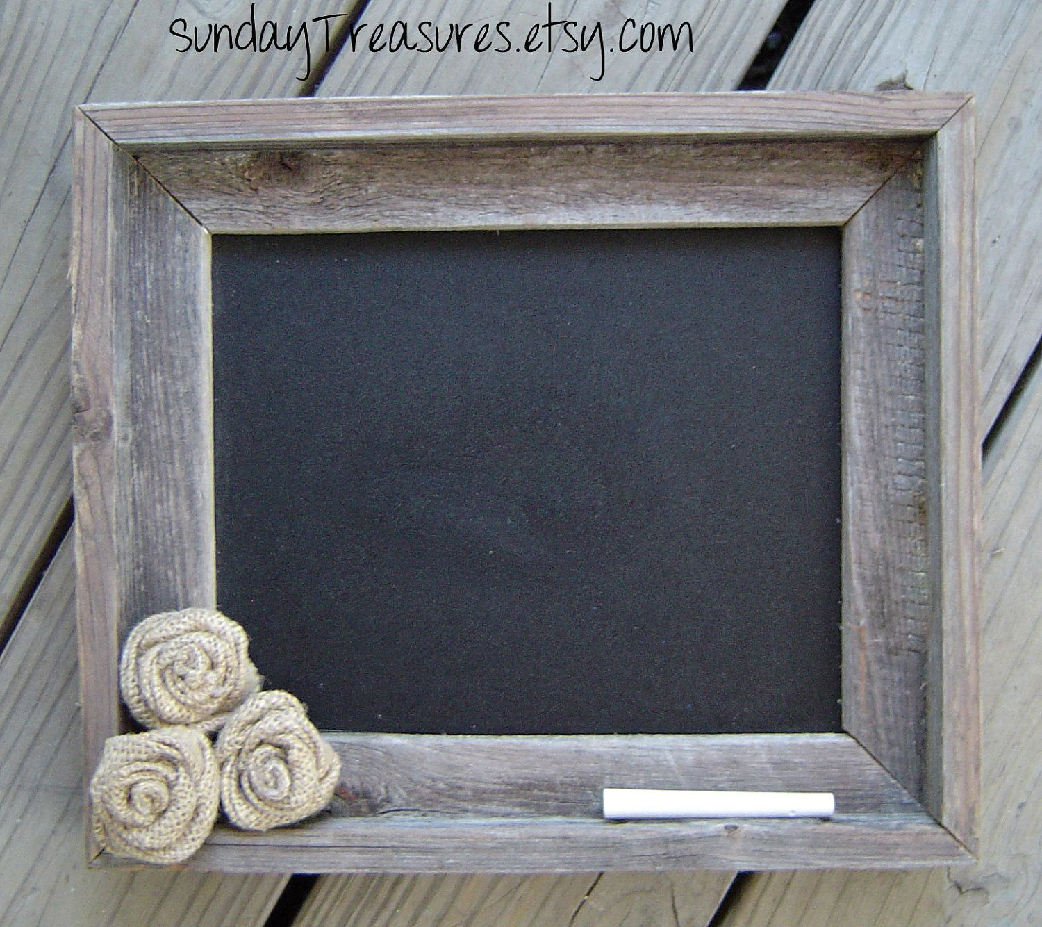 Rustic Burlap Wall Decor : Old barnwood barn wood chalkboard home wedding menu