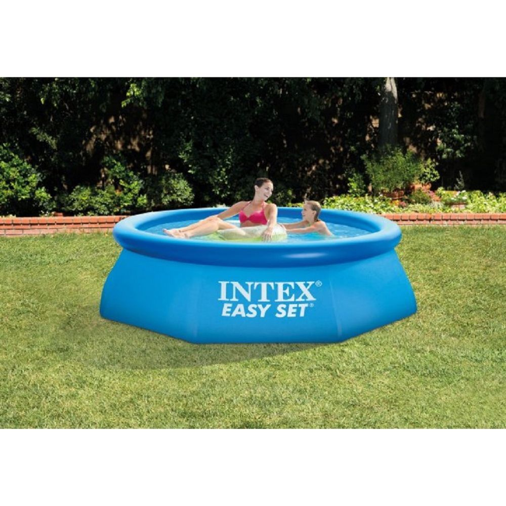 """Intex 8/' x 30/"""" Easy Set Inflatable Above Ground Swimming Pool w// Pump /& Cover"""