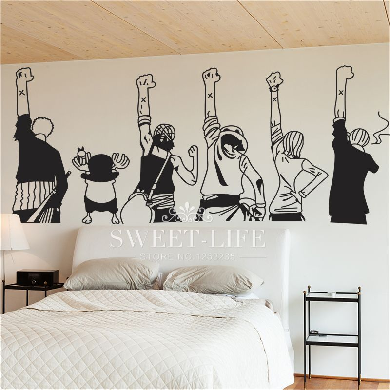 One Piece Anime Wall Poster Sticker Home Decor Decals For Kid S Room Price 25 00 Free Shipping Onepiece O Home Decor Otaku Room Kids Room Decals