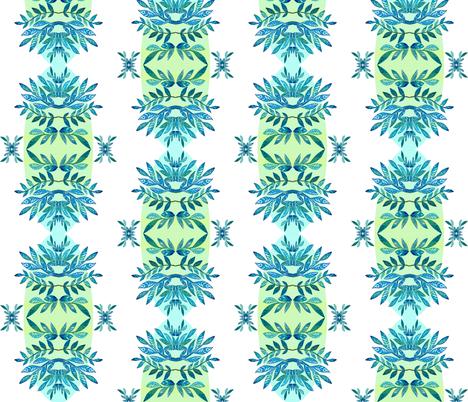 Lotus on yellow fabric by valeriakondor on Spoonflower - custom fabric