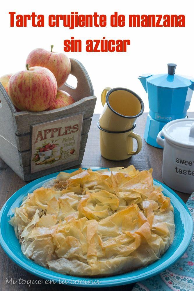 Mi toque en la cocina: Tarta crujiente de manzana sin azúcar