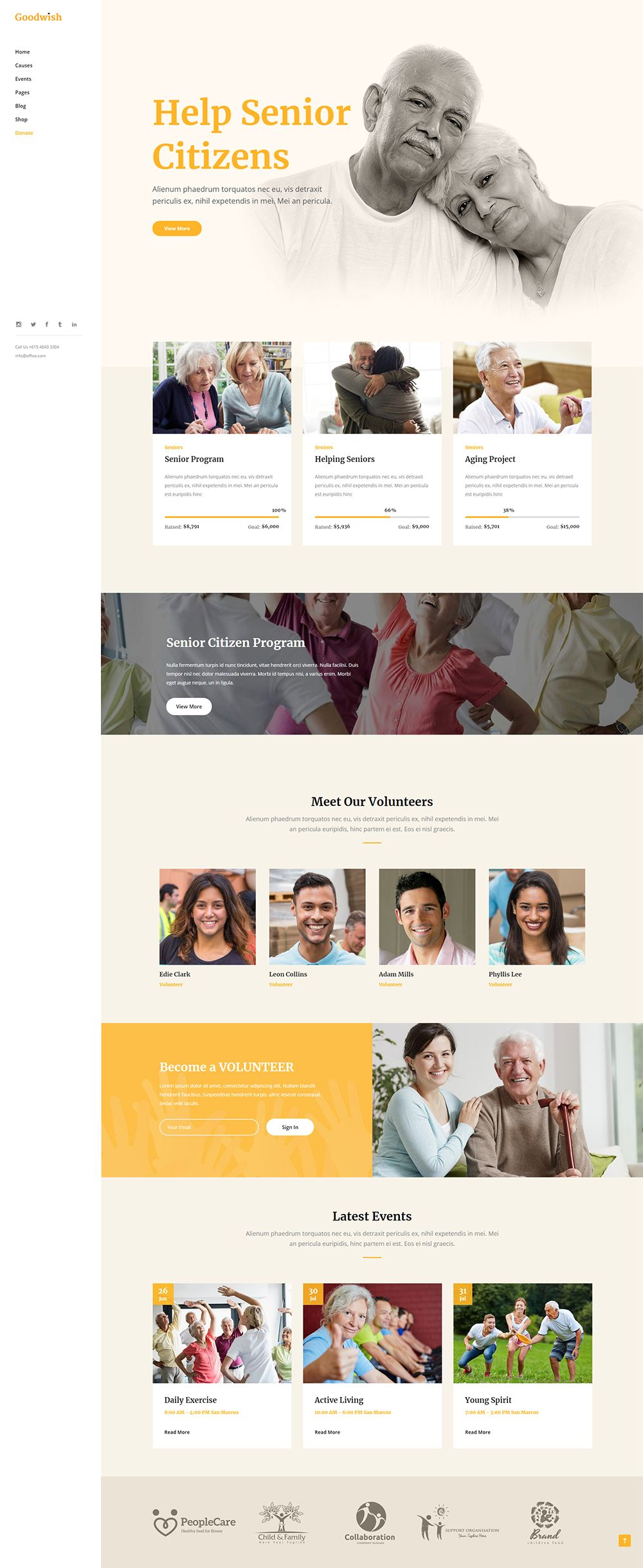 10 Of The Best Senior Care Wordpress Themes 2020 Wpklik In 2020 Nonprofit Website Design Web Design Quotes Web Design Programs
