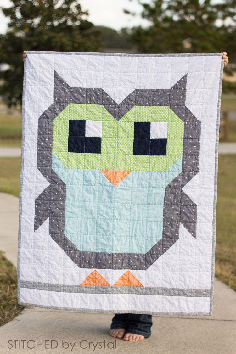 Owl Quilt Pattern : quilt, pattern, Round, Pixel, Blogtour, Sugaridoo, Quilts,, Quilt, Pattern,