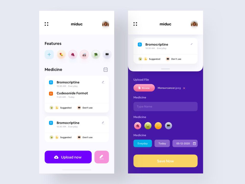 Preview22x.jpg in 2020 App design, Medicine reminder