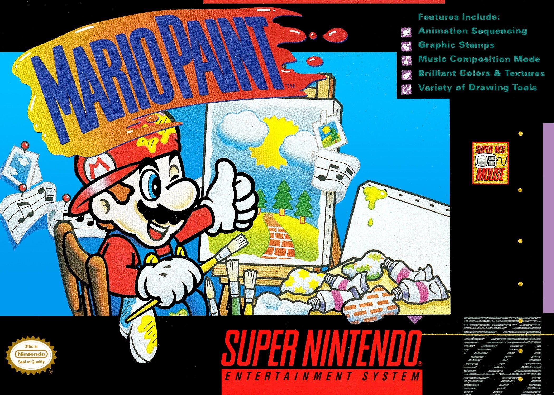 Mario Paint, loved this game Super nintendo, Retro game
