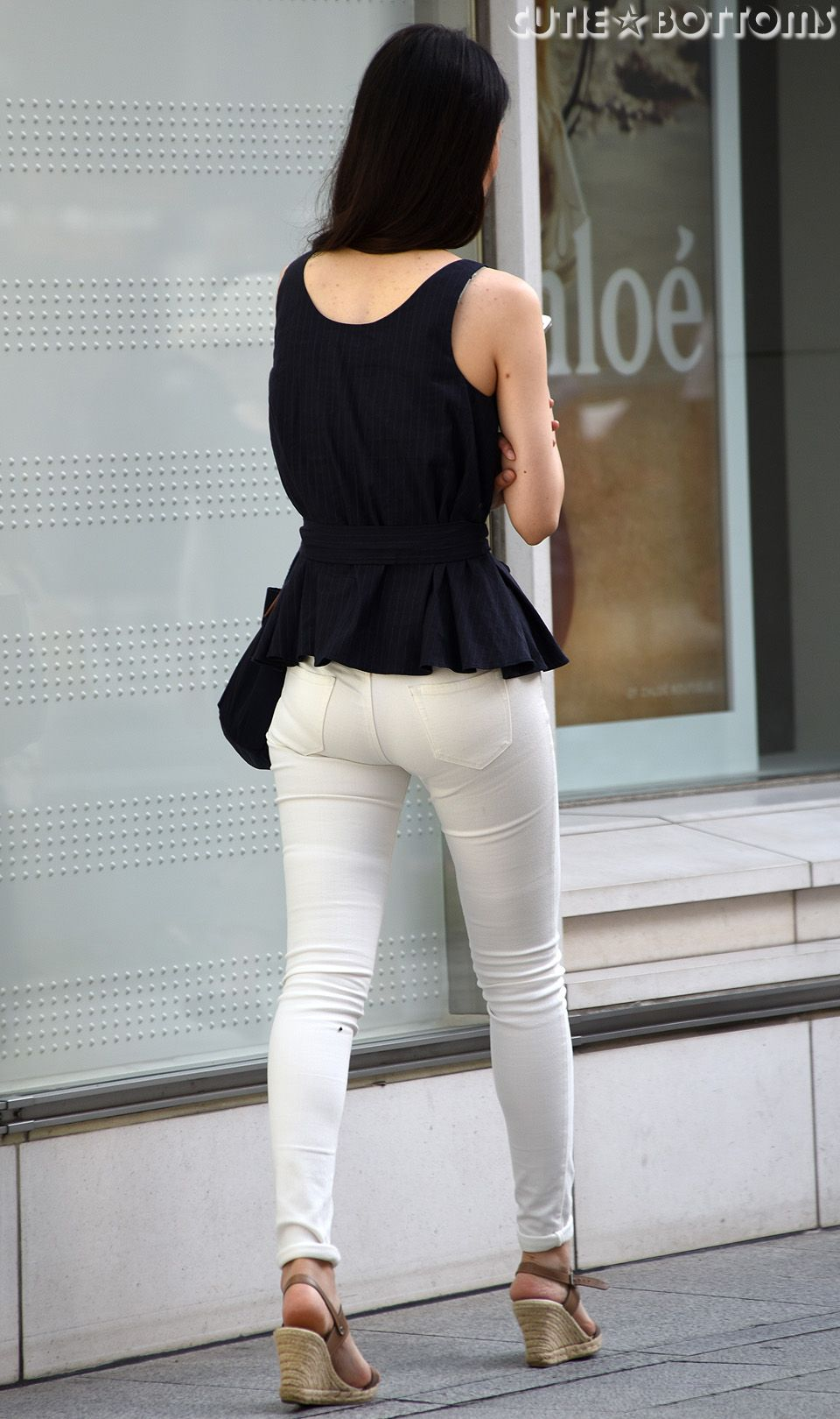 Hot girl in tight jeans