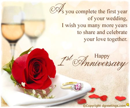 1st Anniversary Card 04 Happy First Wedding Anniversary 1st Marriage Anniversary Wishes Anniversary Wishes For Friends