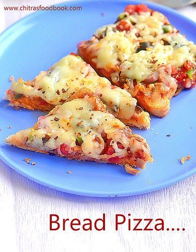 How to make bread pizza on tawa, oven and microwave ...