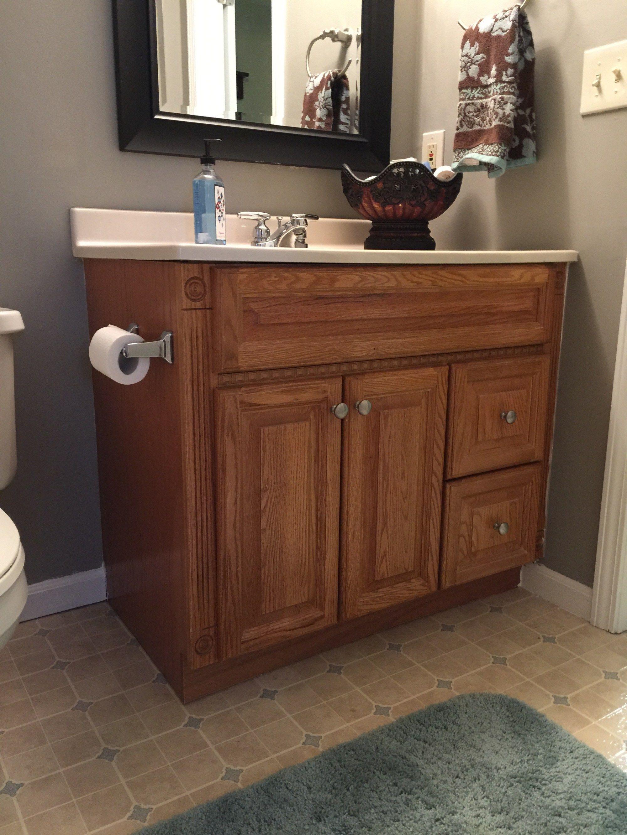 Painting Oak Bathroom Vanity With Annie