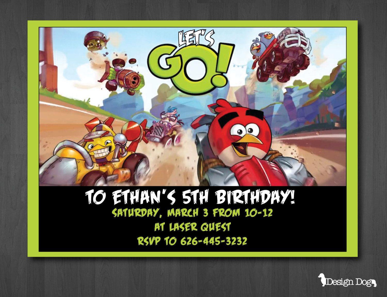 Angry Birds Go Birthday Invitation by TheDesignDog on Etsy, $9.99 ...
