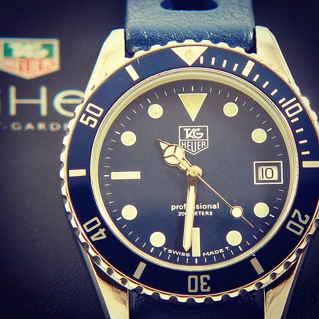 TAG Heuer 1000 Submariner Man Blue with a blue N.O.S ...