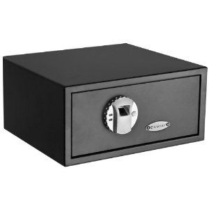 The first thing you need after getting a gun is a safe place to store it. Biometric (fingerprint) gun safe.  I have one of these and love it.