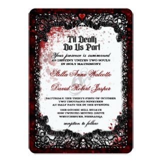 Blood splattered halloween wedding invitation weddings pinterest blood splattered halloween wedding invitation filmwisefo