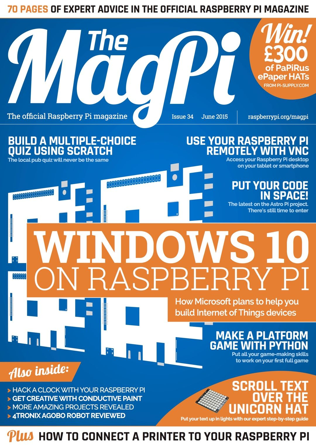 MagPi 34 | electro project | Raspberry pi projects, Raspberry, Pi
