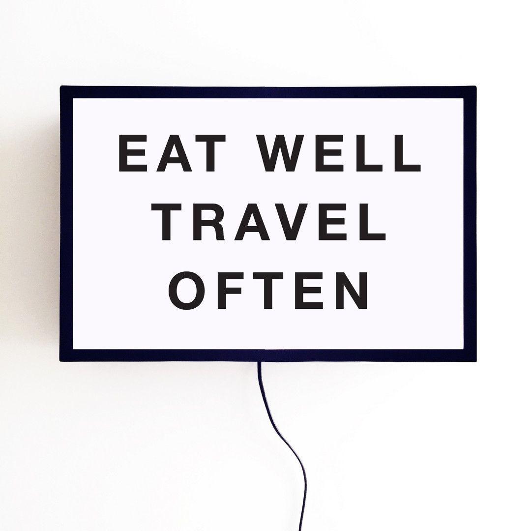 Lightbox Eat Well Travel Often | Storehouse Home Decor