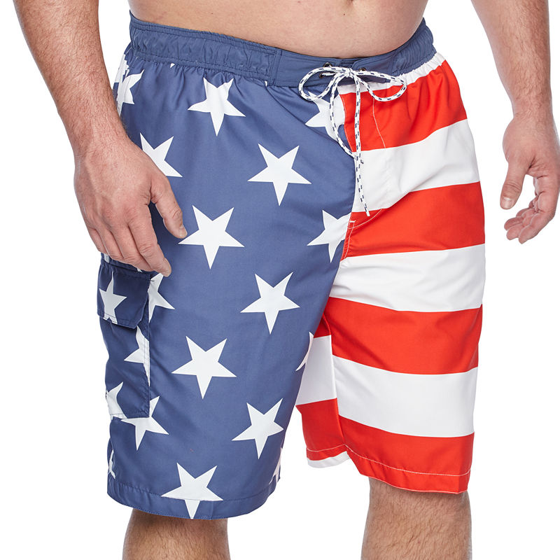 759dcafd8d The Foundry Big & Tall Supply Co. Pattern Swim Shorts Big and Tall ...