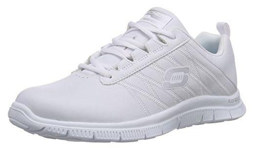 timeless design f2a74 d396e Skechers Flex Appeal Pure Tone, Damen Sneakers, Weiß (WHT ...