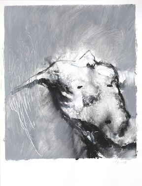 "Saatchi Art Artist Stephane Villafane; Painting, ""Being Outline 02"" #art"