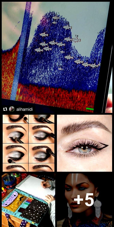 @KatieJaneHughes Make-up Augenbrauen Eyeliner kreative Alternative einzigartig schwarz @KatieJaneHu