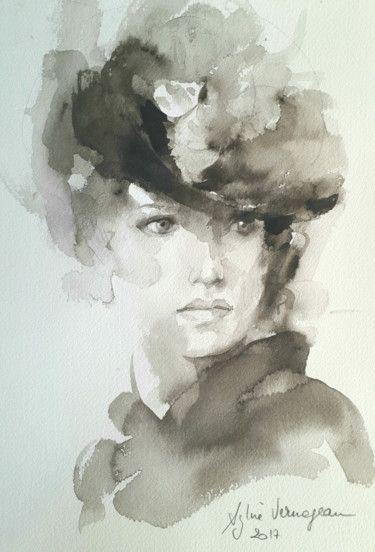 Joli Ce Lavis En 2020 L Art Du Portrait Portrait Peinture