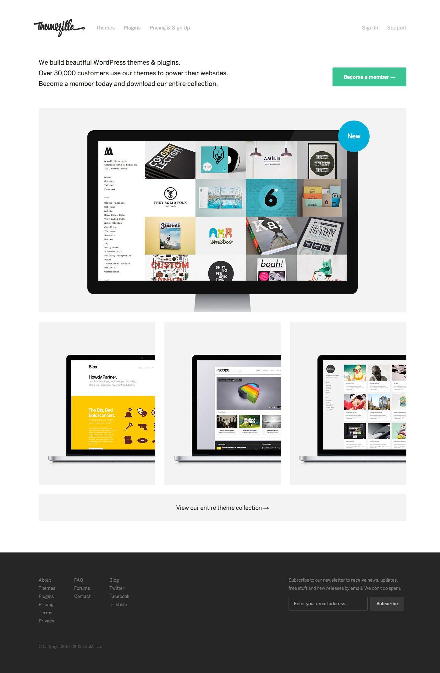 Website Design Themezilla By Orman Clark Fun Website Design Wordpress Web Design Web Inspiration