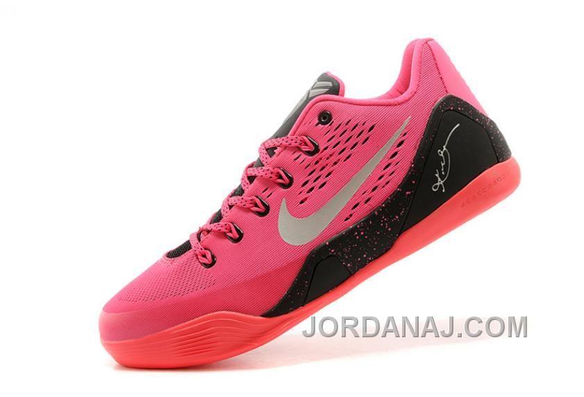 Nike Kobe 9 Em Kay Yow Think Pink Black Metallic Silver TopDeals
