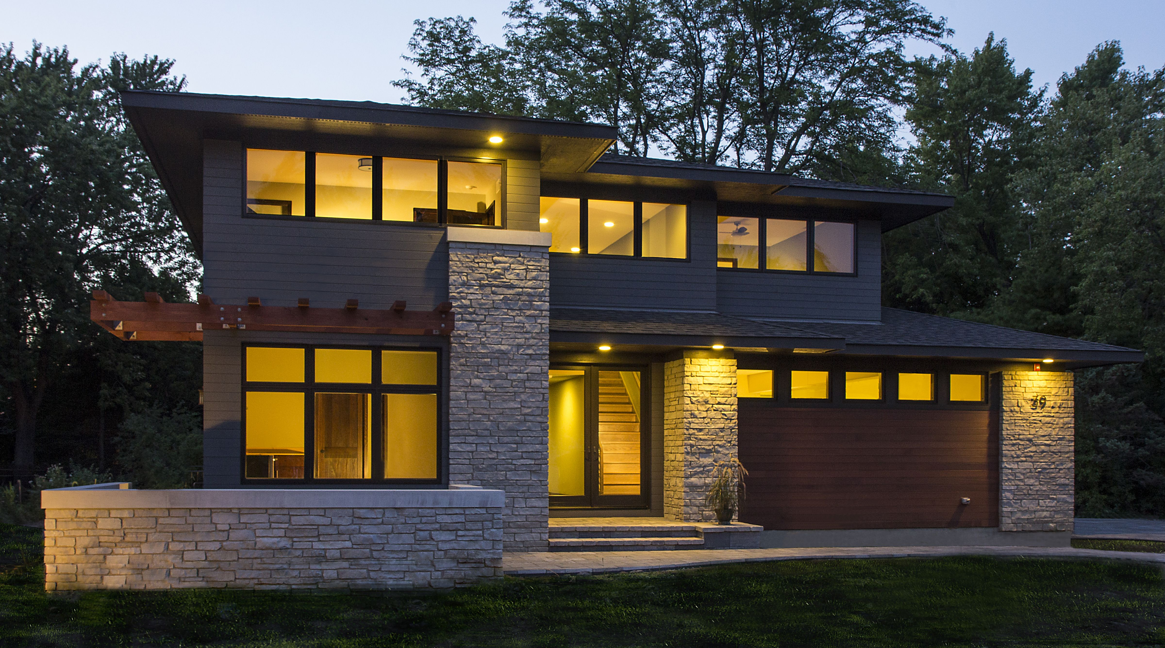 Exceptional Frank Lloyd Wright Inspired: Walk Out Ranch, West Chicago, Illinois Modern  Organic Prairie Home, Indian Hills, Colorado Modern Prairie Style Home:  U201cHarmonic ...