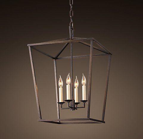 19th C English Openwork Lantern Restoration Hardware Lighting