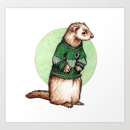 Image result for harry potter ferret illustration