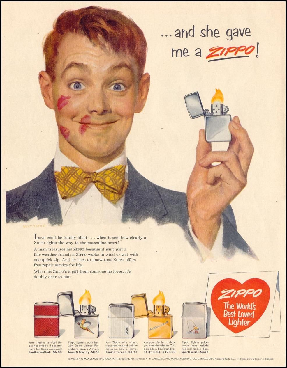 And She Gave Me A Zippo Old Advertisements Vintage Ads Vintage Advertisements