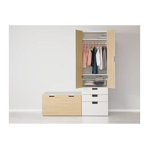 stuva opbergcombinatie met bank wit berken ikea baby ikea bank en berk. Black Bedroom Furniture Sets. Home Design Ideas