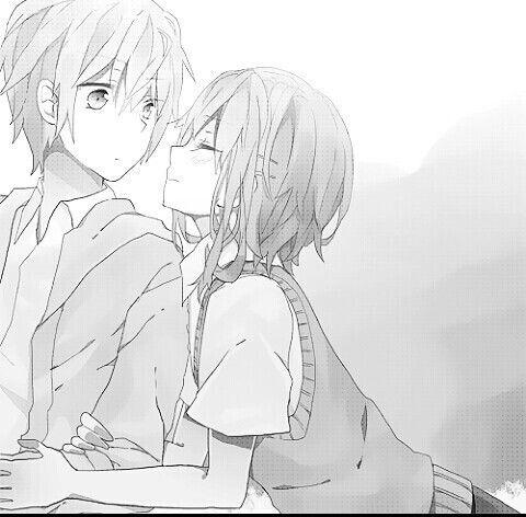 Manga couple anime couple about to kiss lol i rarely see - Dark anime couples ...
