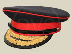f67ab7dc58ae8 Officer peak caps with hand embroidered peaks. Available in woollen  Barathea