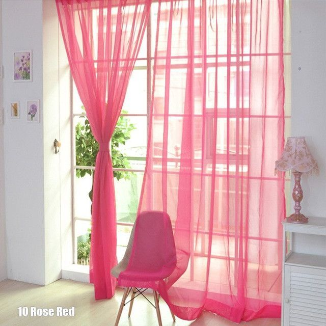 1Pc New Simple Curtains Modern Home Window Decoration Candy Color ...