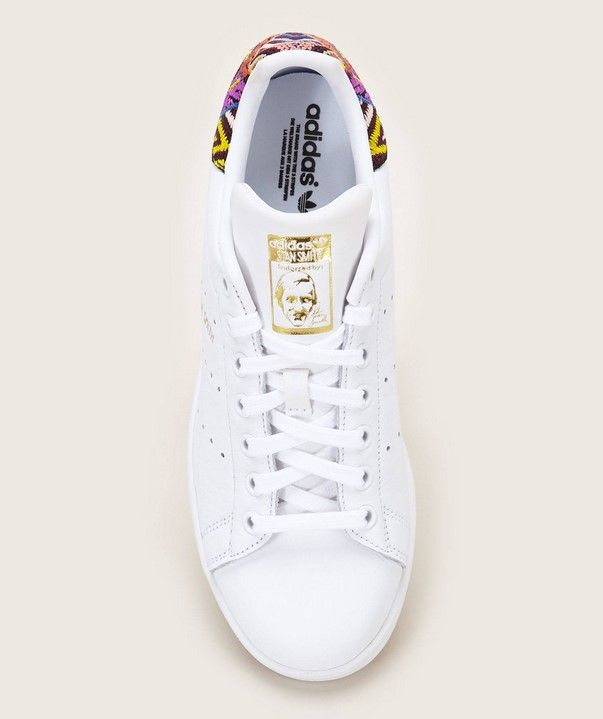 Adidas Originals Stan Smith W Sneakers en cuir brodé - Monshowroom