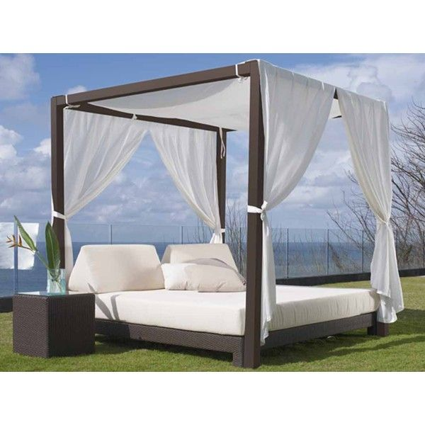 Outdoor Furniture Beds: Anibal 4 Poster Canopy Daybed