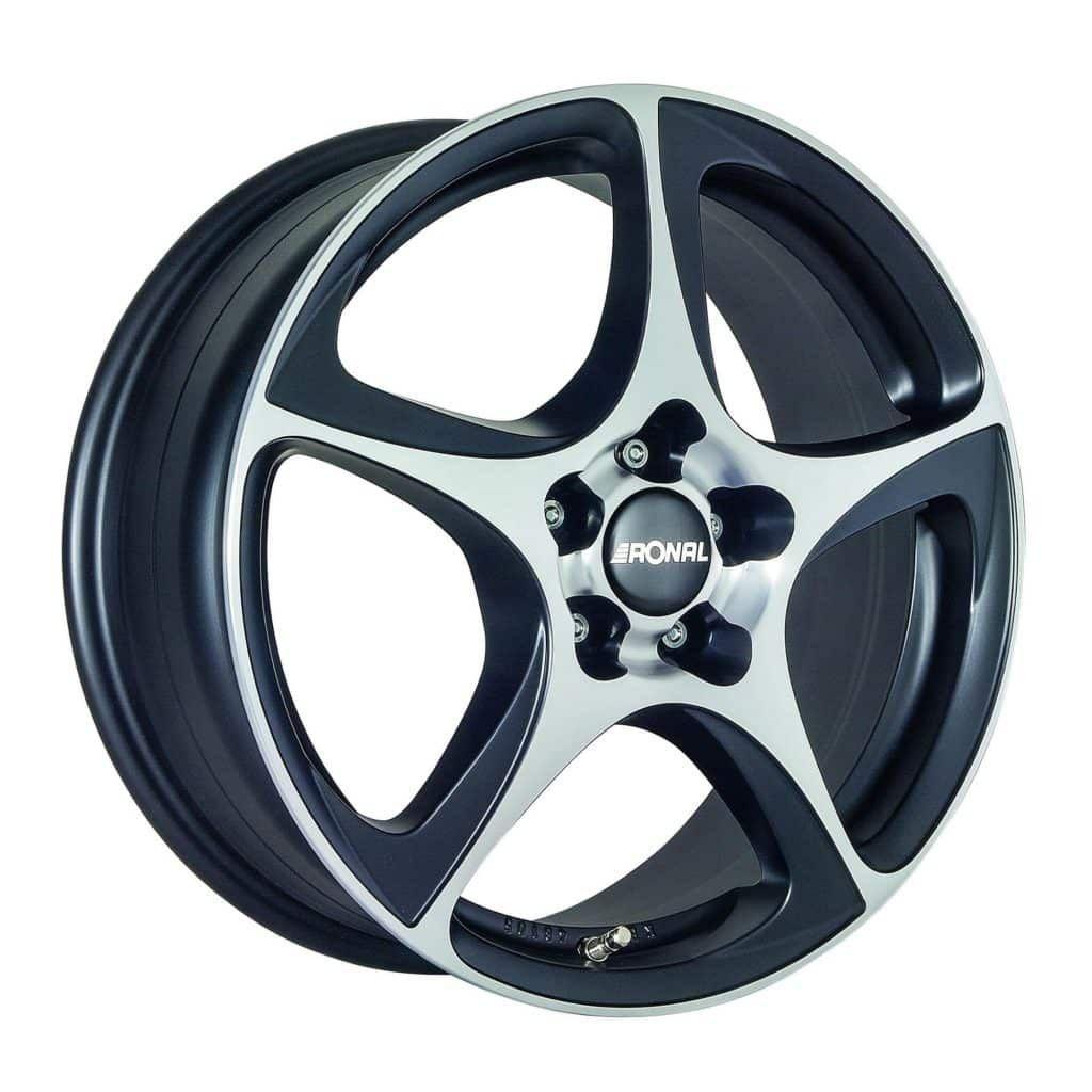 Ronal R53 Black Polished Face 16 17 18 Inch Alloys Papa Smith Black Polish Alloy Wheel