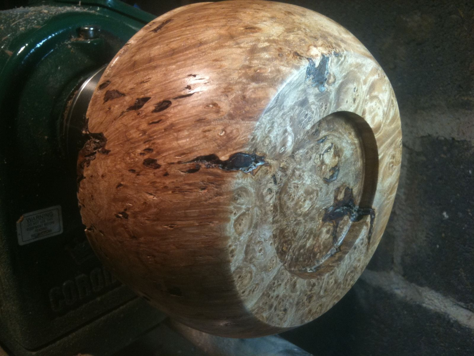 Maple Burl Decorative Bowl