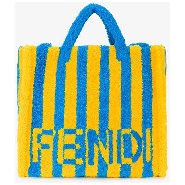 effe999141ed ... shop fendi shearling striped tote 3.810 liked on polyvore featuring  mens fashion 5a209 9ab8e