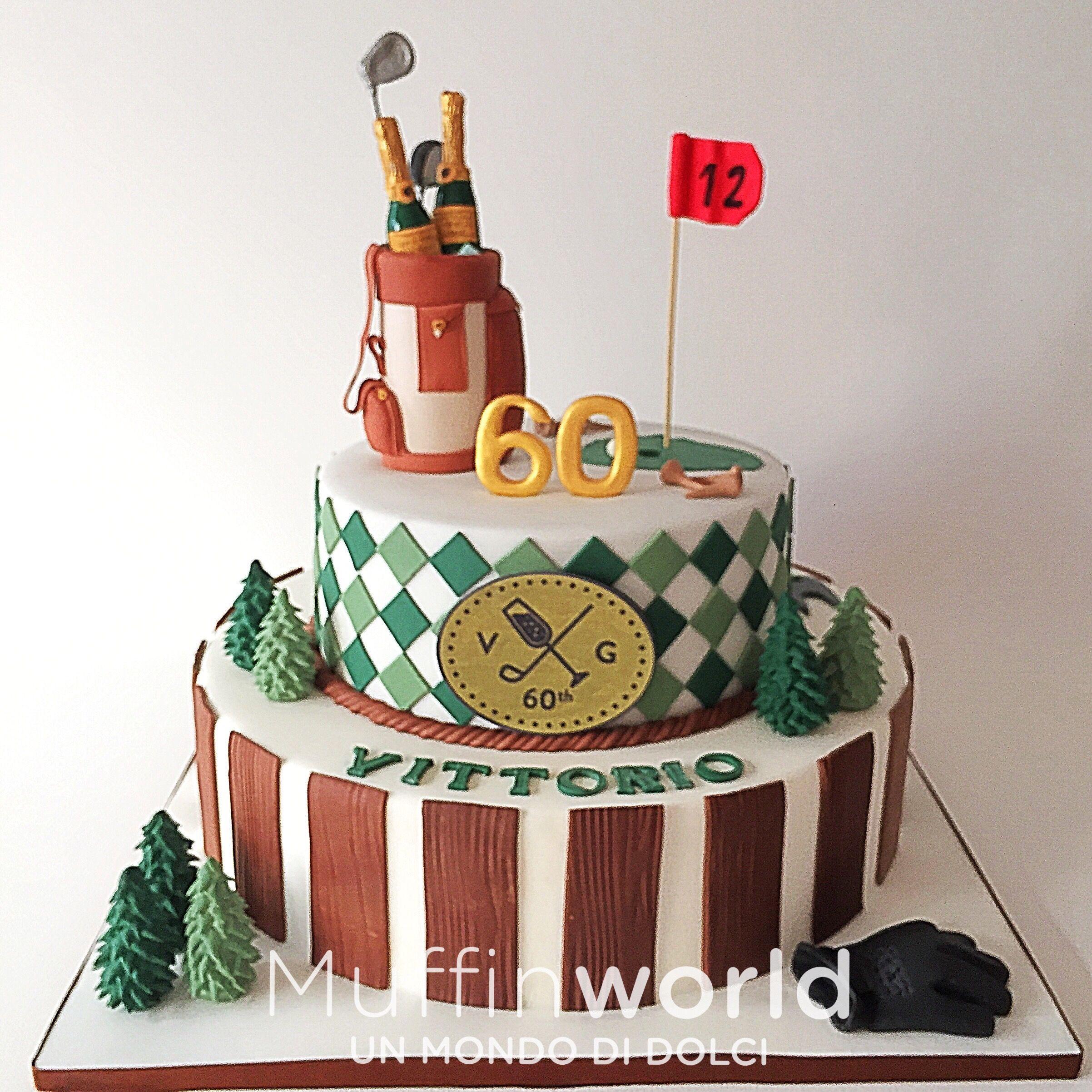 Torta di compleanno per uomo tema golf Golf man birthday cake My
