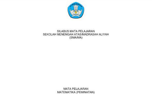 Silabus Matematika Peminatan Kurikulum 2013 Revisi 2017 Pdf Matematika Kurikulum Pelajaran Matematika