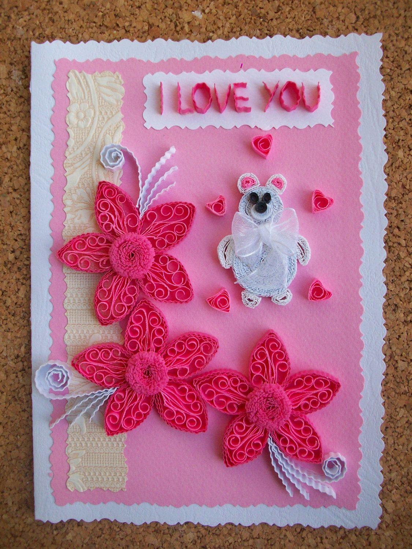 Birthday Card Valentines Greeting Card Handmade Card Greeting