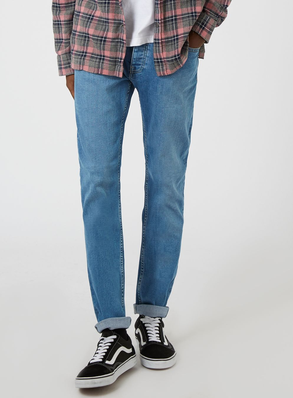 ba530615d Powder Blue Stretch Skinny Jeans | AU Land look ~ for him | Jeans ...