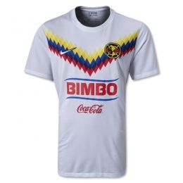 nice shoes a865f 02ca1 13/14 Club America Aguilas Away White Soccer Jersey Shirt ...