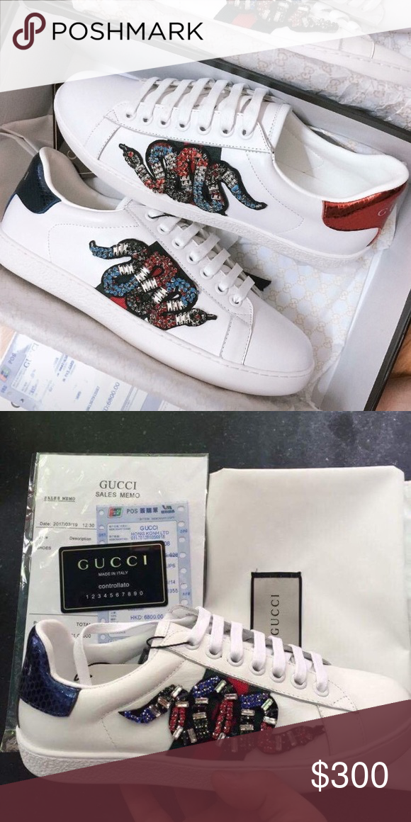 cfa590b690f Gucci Ace Embroidered Kingsnake The now classic Ace low-top sneaker has a  new intricately
