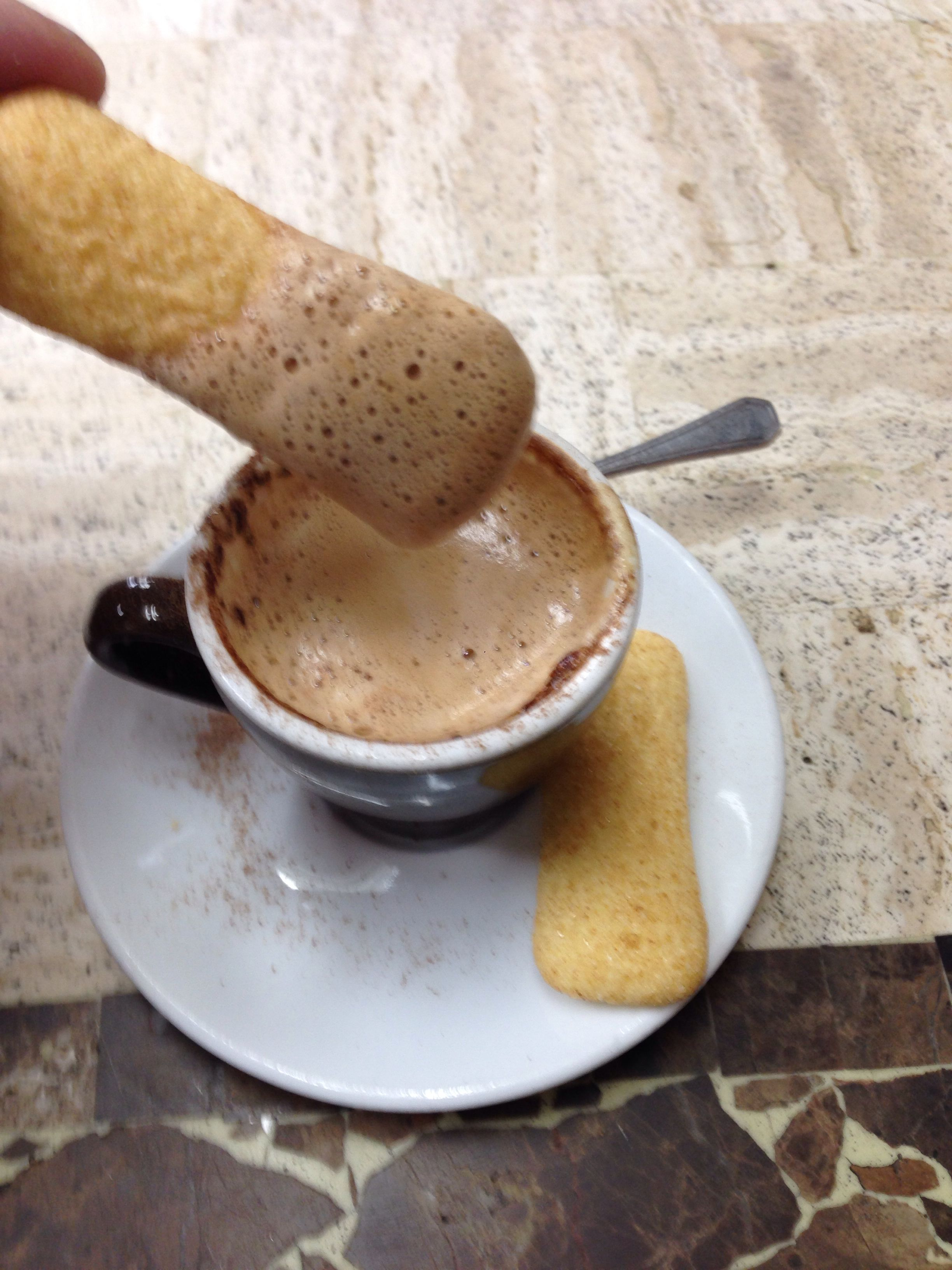 Espresso and pavesini