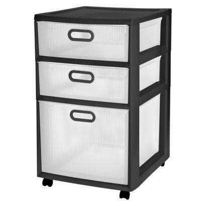 Bedrooms  C B Drawer Storage Cart Black
